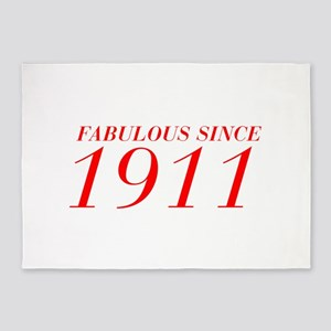 FABULOUS SINCE 1911-Bod red 300 5'x7'Area Rug