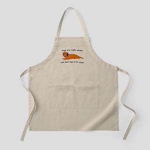 Dachshund Dogs Fur Coat BBQ Apron