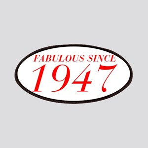 FABULOUS SINCE 1947-Bod red 300 Patch