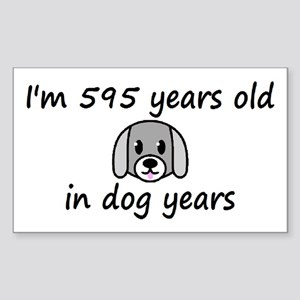 85 dog years 2 - 3 Sticker