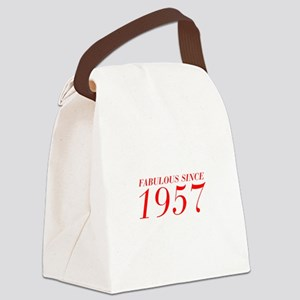 FABULOUS SINCE 1957-Bod red 300 Canvas Lunch Bag