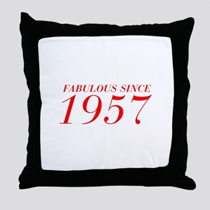 FABULOUS SINCE 1957-Bod red 300 Throw Pillow