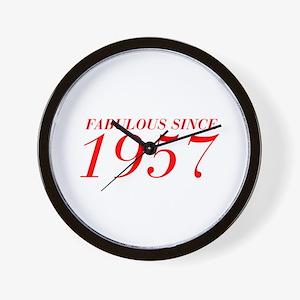 FABULOUS SINCE 1957-Bod red 300 Wall Clock
