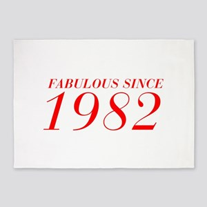 FABULOUS SINCE 1982-Bod red 300 5'x7'Area Rug