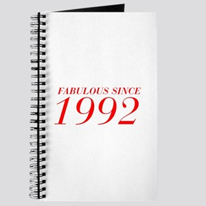 FABULOUS SINCE 1992-Bod red 300 Journal
