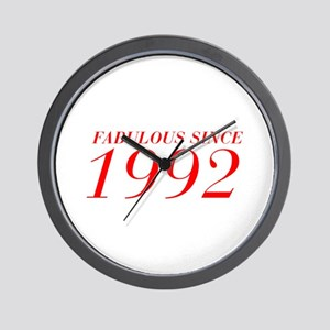 FABULOUS SINCE 1992-Bod red 300 Wall Clock