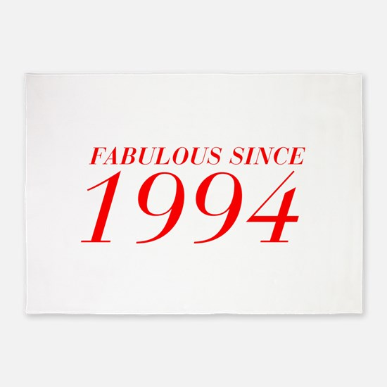 FABULOUS SINCE 1994-Bod red 300 5'x7'Area Rug