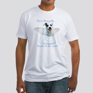 Jack Russell Angel Fitted T-Shirt