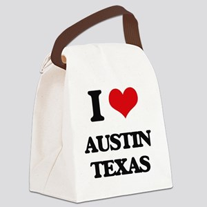 I love Austin Texas Canvas Lunch Bag