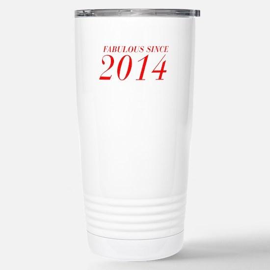 FABULOUS SINCE 2014-Bod red 300 Travel Mug