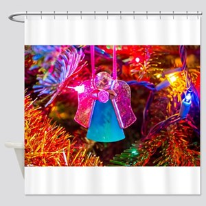 Glass Angel Shower Curtain