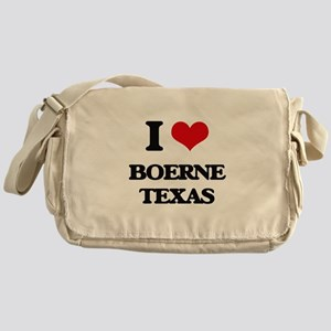 I love Boerne Texas Messenger Bag