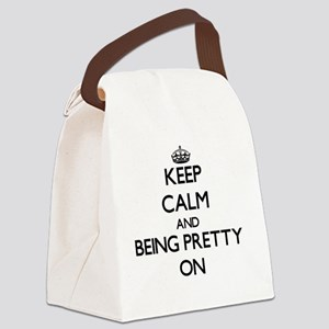 Keep Calm and Being Pretty ON Canvas Lunch Bag