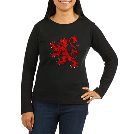 Scottish Lion Women's Long Sleeve Dark T-Shirt