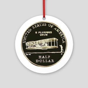 First Flight Commemorative Half D Ornament (Round)