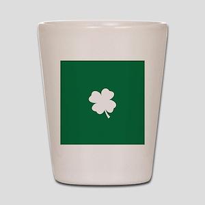 St Patricks Day Shamrock Shot Glass