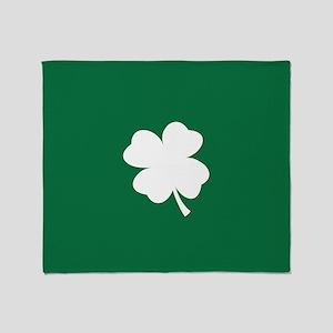 St Patricks Day Shamrock Throw Blanket
