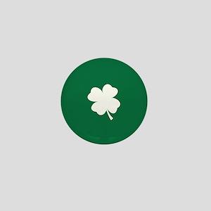 St Patricks Day Shamrock Mini Button