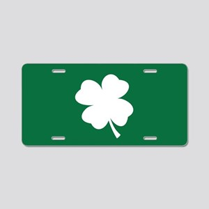 St Patricks Day Shamrock Aluminum License Plate