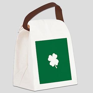 St Patricks Day Shamrock Canvas Lunch Bag