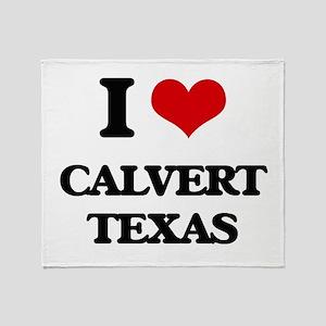I love Calvert Texas Throw Blanket
