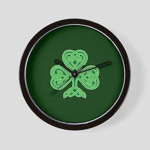 Celtic Shamrock - St Patricks Day Wall Clock