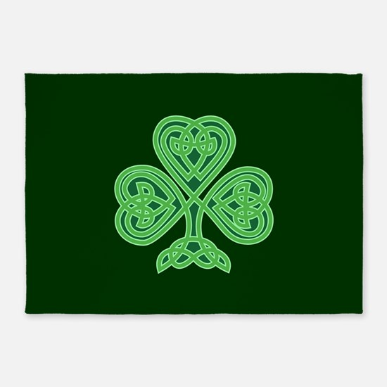 Celtic Shamrock - St Patricks Day 5'x7'Area Rug