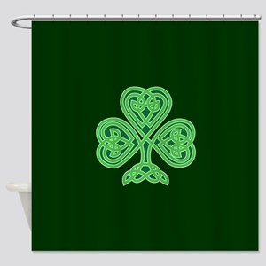 Celtic Shamrock - St Patricks Day Shower Curtain