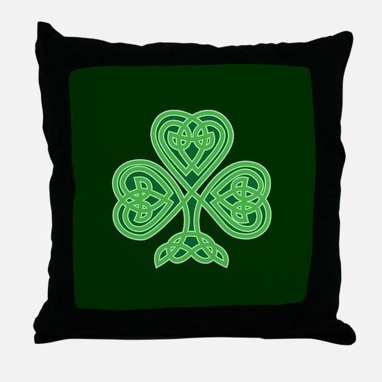 Celtic Shamrock - St Patricks Day Throw Pillow