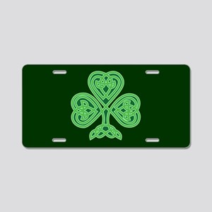 Celtic Shamrock - St Patric Aluminum License Plate