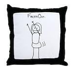 Freak Out Throw Pillow