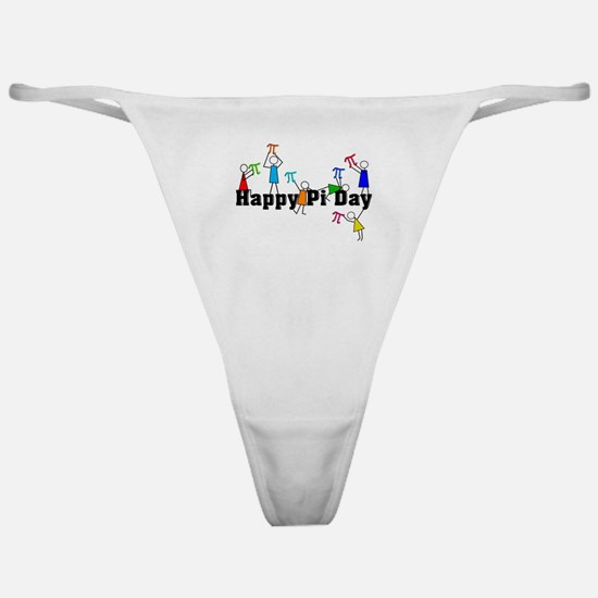 Pi Day Stick People Classic Thong