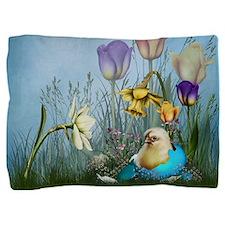Easter Egg Chicken Pillow Sham