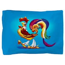 Cockerel Cartoon Pillow Sham