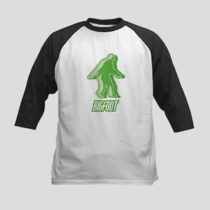 Bigfoot Silhouette Kids Baseball Jersey