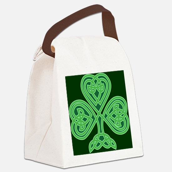Celtic Shamrock - St Patricks Day Canvas Lunch Bag