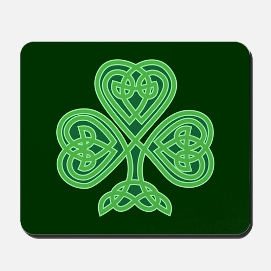 Celtic Shamrock - St Patricks Day Mousepad
