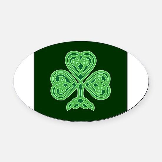 Celtic Shamrock - St Patricks Day Oval Car Magnet