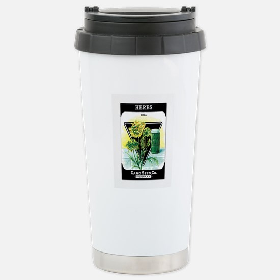 Dill Herbs Stainless Steel Travel Mug