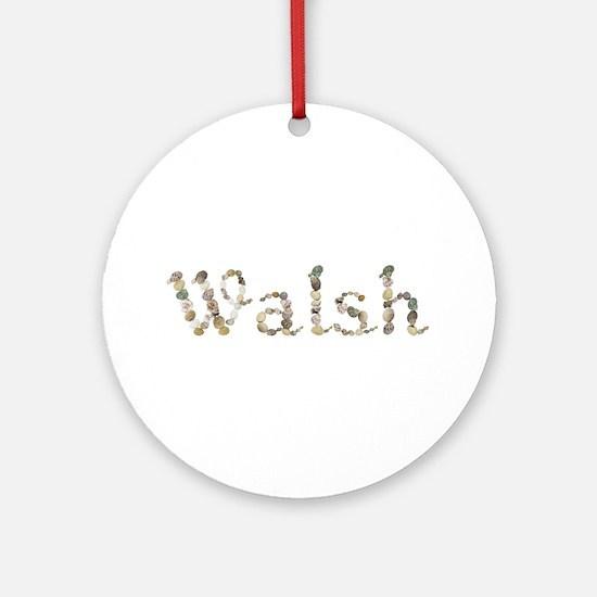 Walsh Seashells Round Ornament