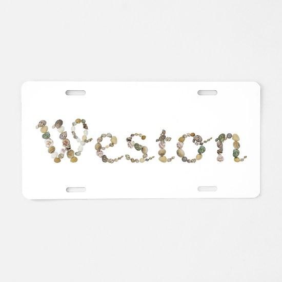Weston Seashells Aluminum License Plate