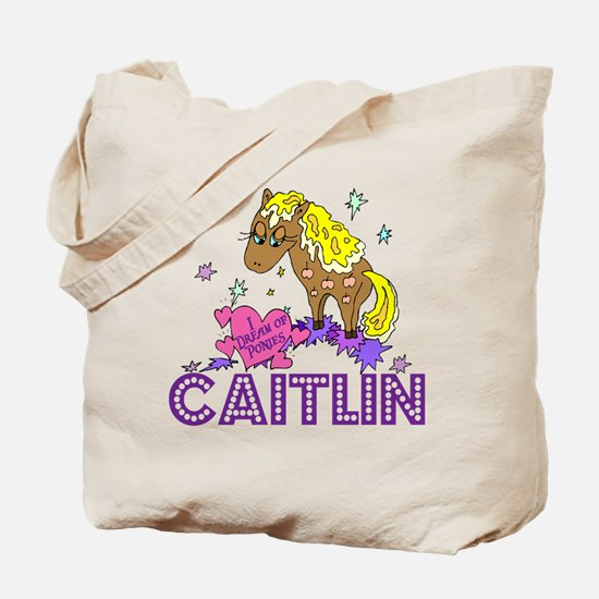 I Dream Of Ponies Caitlin Tote Bag