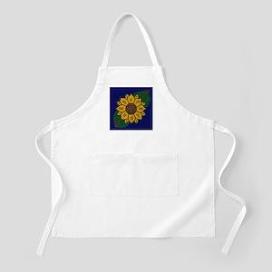 Mexican Tile Sunflower Blue Apron