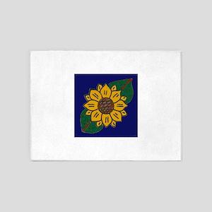 Mexican Tile Sunflower Blue 5'x7'Area Rug