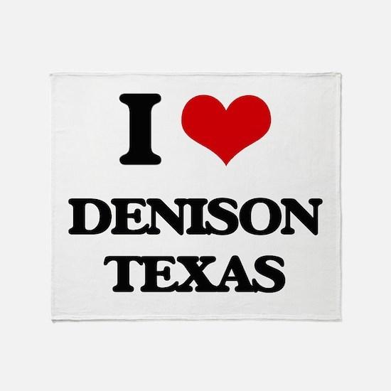 I love Denison Texas Throw Blanket