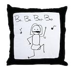 Bop Bop Throw Pillow