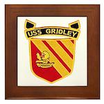 USS GRIDLEY Framed Tile