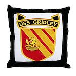 USS GRIDLEY Throw Pillow