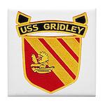 USS GRIDLEY Tile Coaster