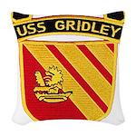 USS GRIDLEY Woven Throw Pillow